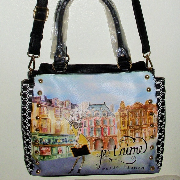 Melie Bianco Handbags - NWT Melie Bianco Angelica French Print Tote